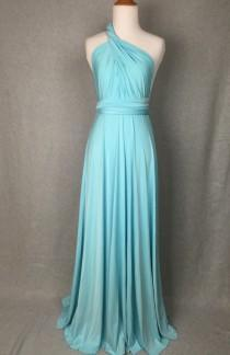 wedding photo - Aqua Infinity Dress Convertible Formal,wrap dress ,bridesmaid dress,party dress Evening dress B32#C32#