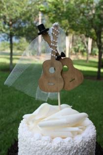 wedding photo - Guitar wedding cake topper-musician-wedding cake topper-guitar-music-instrument-musical-guitar wedding-rock star
