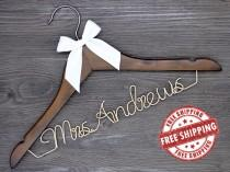 wedding photo - Free Shipping, Rustic wedding hanger,Personalized bridal hangers,Bridesmaids group gifts,Bachelor party,Mother of the bride gift.