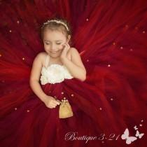 wedding photo - Cranberry Flower Girl Dress, Cranberry Tutu Dress, Wine Flower Girl Dress, Wine Tutu Dress, Red Flower Girl Dress, Red Tutu Dress,