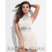 wedding photo - Nude/Aqua Rachel Allan Homecoming 4035  Rachel ALLAN Homecoming - Elegant Evening Dresses