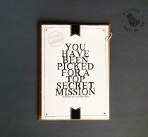 wedding photo - Will you be Groomsman proposal card. Top Secret best man proposal invitation. Printed inside cards. GC538