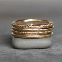 wedding photo - 14k Gold Wedding Band - Classic Gold Band - Choose Your Texture - Eco-Friendly Recycled Gold