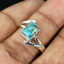 wedding photo - Blue Copper Turquoise RIng, Blue Copper Turquoise Jewellery, Turquise RIng, Copper Turquoise Ring, Handmade Ring, Unique RIng, Birthday Gift
