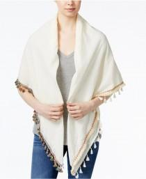wedding photo - Steve Madden Catalunya Tassel Square Scarf & Swim Cover-up