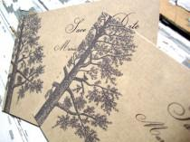 wedding photo - Rustic Save the Date, Fall Wedding Save the Date Postcard, Eco Friendly