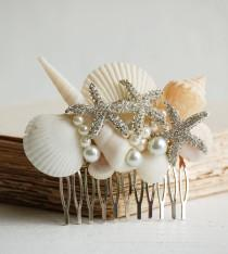 wedding photo - Bridal HAIR COMB Sea Shell Hair Accessory Beach Wedding Mermaid Ocean Summer Resort Vacation