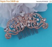 wedding photo - ROSE GOLD or SILVER Comb Bridal Crystal Vintage Hair Accessories Accessory Wedding Hair Jewelry Prom Party Blusher Birdcage Bird Cage Veil