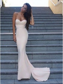wedding photo - Buy Decent Ivory Mermaid Sweetheart Sleeveless Sweep Train Prom Dress Ivory, from for $282.99 only in Main Website.