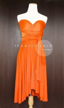 wedding photo - Orange Bridesmaid Dress Convertible Dress Infinity Dress Multiway Dress Wrap Dress Wedding Dress Cocktail Dress Prom Dress Twist Dress
