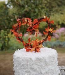 wedding photo - Fall Cake Topper, Rustic Chic Decor