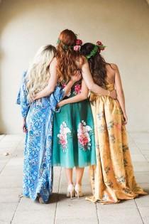 wedding photo - The Bridesmaids' Revels – A High Fashion Bohemian Bridal Shower