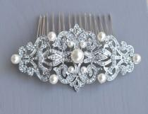 wedding photo - Vintage Wedding Comb,  Vintage Hair Comb
