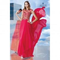 wedding photo - Alyce Paris 6471 Flowy Chiffon Special Occasion Dress - Brand Prom Dresses