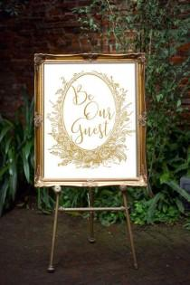 wedding photo - Beauty And The Beast Wedding Decor - Be Our Guest