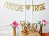 wedding photo - Bride Tribe Banner - Bachelorette Banner - Bachelorette Party Decor - Bachelorette Decoration