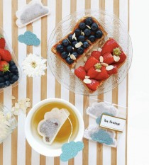 wedding photo - Tea Bags Cloud Shaped (5) - blue and sparkle - breakfast - zen