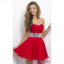 wedding photo - Strapless Homecoming Dress by Blush 9683 - Discount Evening Dresses