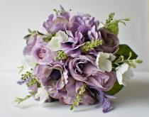 wedding photo - Bridal Bouquet, Purple Bouquet, Ready to Ship Bouquet, Lavender Bouquet, Spring Wedding, Brides Bouquet, Wedding Bouquet, Bridesmaid Bouquet