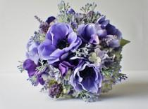wedding photo - Bridal Bouquet, Purple Bouquet, Lavender Bouquet, Lapis Purple,  Spring Wedding, Brides Bouquet, Wedding Bouquet, Bridesmaid Bouquet