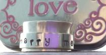 wedding photo - Marry Me Spinner ring CUSTOM and PERSONALIZED proposal sterling silver ring lgbt Valentines day