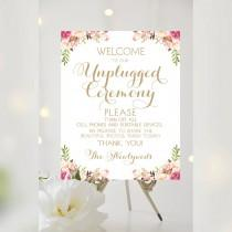 wedding photo - Unplugged Ceremony Sign