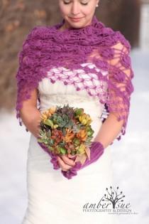wedding photo - Bridal Shrug,Bridal Bolero,Winter Wedding,Wedding Cape, Winter Bridal Wrap, Bridal Cover up, Bridal Cape, Crochet Shawl, White Bolero, Shawl