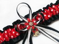 wedding photo - Sexy MINNIE MOUSE Charm Womens GARTER Belt For Wedding Bridal Prom Lingerie