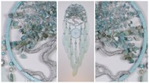wedding photo - Mint Dream Catcher Tree of life amazonite Dreamcatcher mint Dreamсatcher wall handmade mint gift birthday amazonite gift mint tree of life