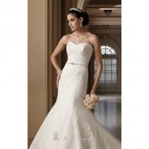 wedding photo - Stunning Strapless Mermaid Dress By David Tutera For Mon Cheri - Cheap Discount Evening Gowns