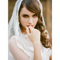 wedding photo - Bridal veil, Silk tulle veil, bridal blusher veil, wedding veil, drop veil, lace / Style 749