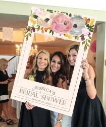 wedding photo - Bridal Shower Photo Prop - Wedding Photo Prop - Sweet Blooms Photo Prop - DIGITAL FILE - Baby Shower Photo Prop - Printed Option Available