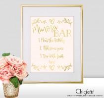wedding photo - Mimosa Bar Sign - Mimosa Bar Wedding Sign - Gold Mimosa Bar - Gold Wedding Decorations - Mimosa Bar Print - Wedding Mimosa Bar