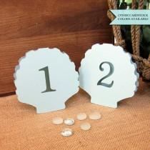 wedding photo - Shell table number - Beach wedding table number - Table numbers wedding - Beach table numbers - Beach wedding decor