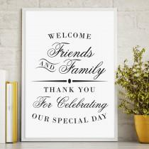 wedding photo - Printable Welcome Sign, Wedding Reception Sign, Welcome from the Mr. and Mrs, Script Wedding Sign, Instant Download