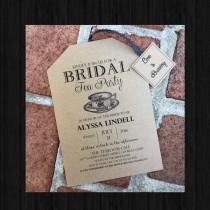wedding photo - Rustic Tea Party Bridal Shower Invitations