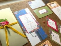 wedding photo - Wedding Invitation Set, Wedding Invitation, Boho Wedding, Rustic Wedding, Wedding invitations, Flower Wedding Invitation, Hanging Gardens