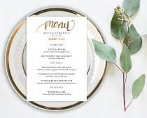 wedding photo - Wedding Menu Printable, Menu Editale Template