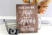 wedding photo - Rustic Wedding Sign, Photo Guest Book, Guest Book Sign, Wooden Wedding Sign