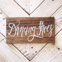 wedding photo - Rustic Wedding Sign, Dancing Shoes Sign, Wooden Wedding Sign, Dance Floor Sign