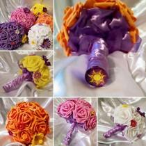 wedding photo - Disneys Rapunzel from Tangled inspired Bouquets :) ~ Multiple sizes and colors available