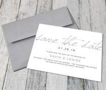 wedding photo - Modern Calligraphy Save The Dates (Digital)