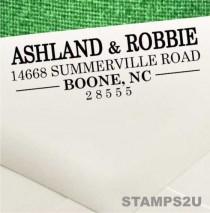 wedding photo - Return Address Stamp-Self Ink Address Stamp-Custom Address Stamper- Wedding Invitation Stamp-Housewarming Gift, FREE Proof-No Pad--No Mess!