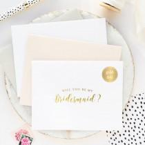 wedding photo - Will You Be My Bridesmaid Card, Bridesmaid Proposal Card, Wedding Party Card, Bridal Party Card, Gold Bridesmaid Card, Foil Bridesmaid Card