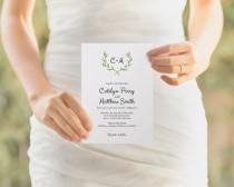 wedding photo - Printable Wedding Invitation Template, Wedding Invitation Set, DIY Wedding Cards, Instant Download Editable PDF, Watercolor Botanical Wreath