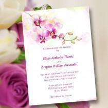 "wedding photo - Printable Wedding Invitation Template ""Orchid"""