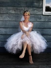wedding photo - Bella Mode - Custom Reversible Mid-length Tulle Skirt - SEWN Tutu - Choose your colors and length