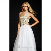 wedding photo - One Shoulder Long Dress by Terani Couture Prom - Color Your Classy Wardrobe