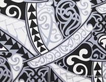wedding photo - Maori Tribal Fabric Polynesian Tattoo Tapa Manly Print Lavalava Aloha Shirt Black White Gray, HPCN10028, Ask for bulk