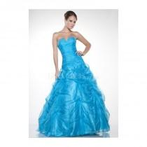 wedding photo - Awesome Strapless A line Organza Spring Prom Party Dress - Compelling Wedding Dresses